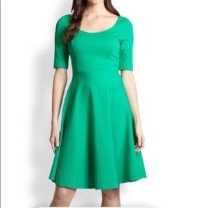 Kate Spade green Jada holiday dress fit flare Sz 4
